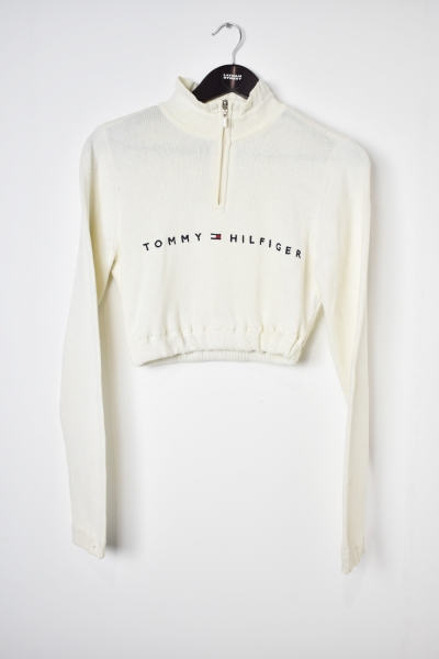 Tommy Hilfiger 1/4 Zip Cropped Knit